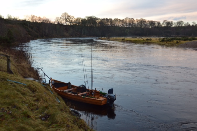 Our boat 'Kathleen' waiting to start the season