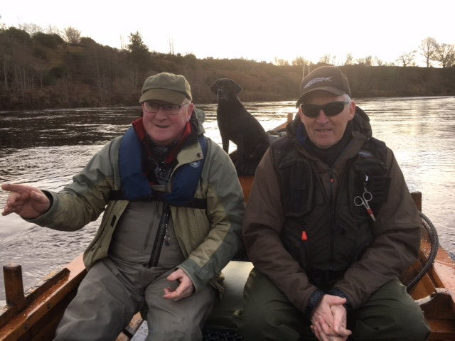 Alastair and John in the boat on Opening day 15 January 2018
