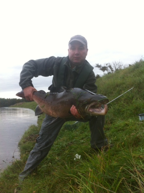 Kenny Milne Jnr. and his 45lbs. fish on 26.10.13