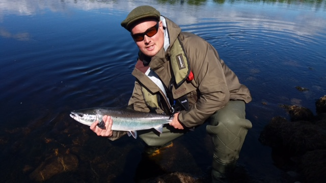 Paul Morris with his 8lbs. fish on the 18th of May 2017